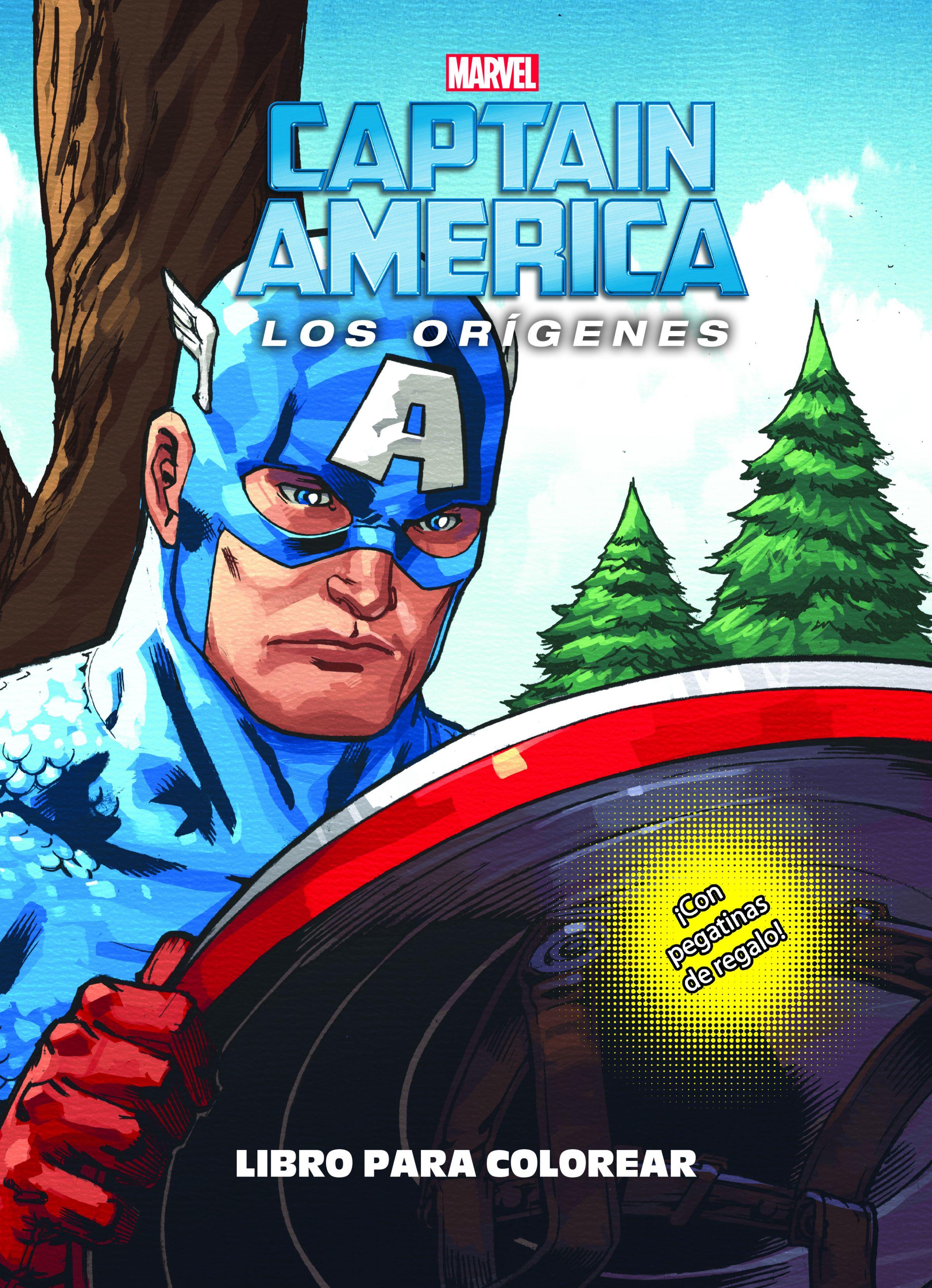 Capitán América. Los orígenes. Libro para colorear | Planeta de Libros